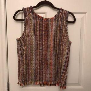 Anthropologie tweed blouse